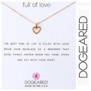 NWT Dogeared Sterling Silver Full of Love Necklace